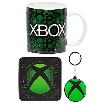 XBOX Keramische Mok 11oz, Coaster & Keyring Gamer Gift Set Kids