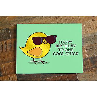 Happy Birthday To One Cool Chick Birthday Card