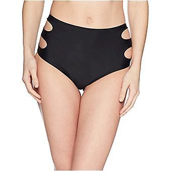Marca - Coastal Blue Women's Swimwear High Waist Bikini Bottom, ébano,...