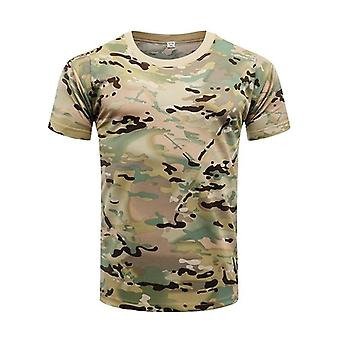 Men's Tactical Shirt, Short Sleeve Quick Dry Combat Military Army Hiking &