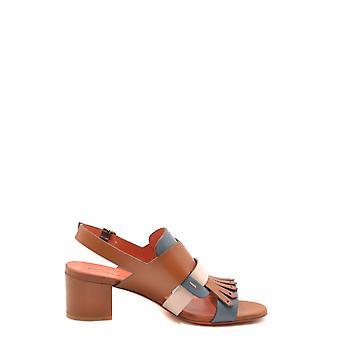 Santoni Ezbc023029 Women's Multicolor Leather Sandals