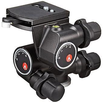 Manfrotto 410 junior Getriebekopf mit Auslöseplatte und mikrometrischen Knöpfen, Aluminiumgehäuse, für dslr,