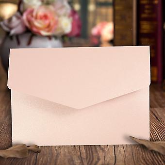 A6 Pocketfold Convites Pétalas Peroléis Rosa pacote de 10
