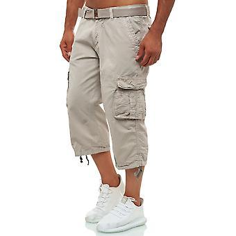 Men Cargo Shorts Bermuda short capri pants belt vintage casual oversize