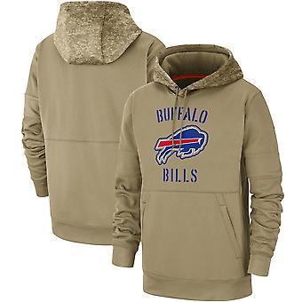 Miehet's Buffalo Bills Vino isku Tri-Blend Raglan Pullover Huppari TopWYG61