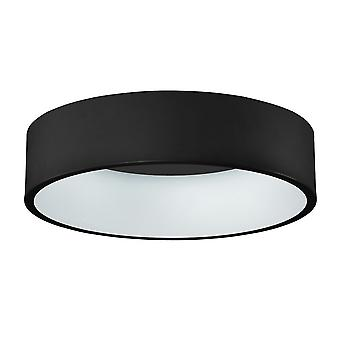 Italux Chiara - Moderno LED Flush Ceiling Light Nero, Bianco Caldo 3000K 2310lm