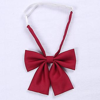 Jk Uniform Bow Tie Butterfly Cravat Solid Color School Suit