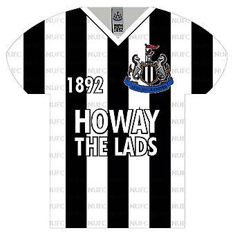 Newcastle United FC Shirt Shaped Sign