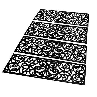 Rubber Stair Treads - Set of 4 | M&W