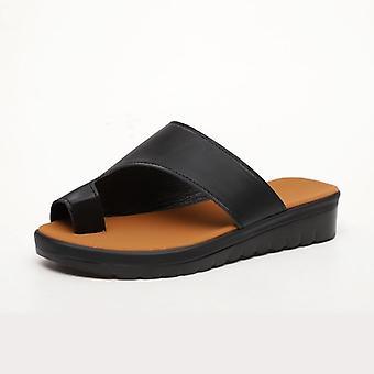 Comfy Plain Shoes & Flat Platform Ladies Casual Big Toe Foot Correction Sandals
