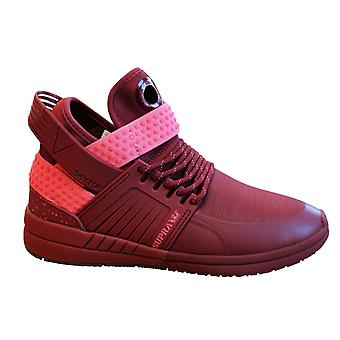 Supra Skytop V Brick Red Slip On High Top Lace Up Mens Trainers 08032 625