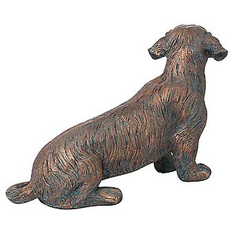 Hill Interiors Eric The Wire Haired Dachshund Statue