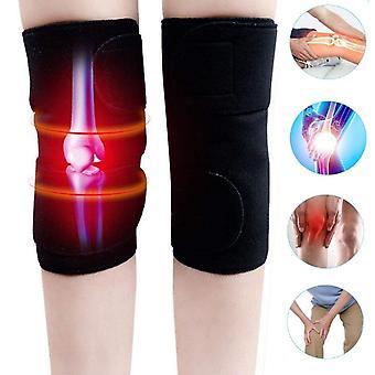 1つのペア自己加熱膝パッド磁気膝ブレース療法サポートベルト