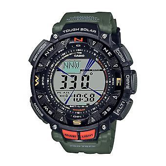 Menns klokke CASIO PRG-240-3ER - Grønn R sinus armbånd