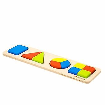 "Alatoys Wooden  Puzzles ""Fractions-shapes"""