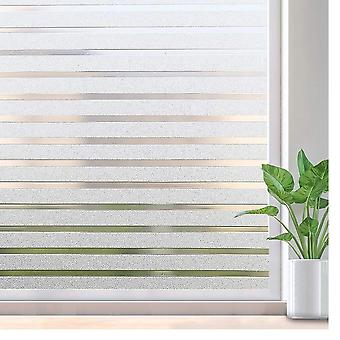 Sticker Striped Window Decal Non-adhesive Privacy Film