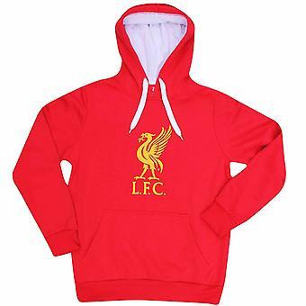 Liverpool FC Unisex sudadera con capucha crest para adultos