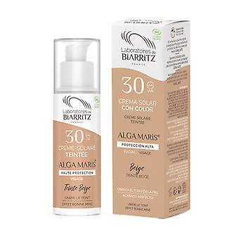 Light color sun facial cream SPF30 50 ml of cream