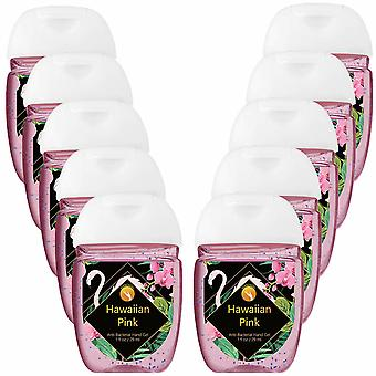 HandiGel Pocket Size Hand Sanitizers Antibacterial Gel, 29ml-Hawaiian Pink, 10pk