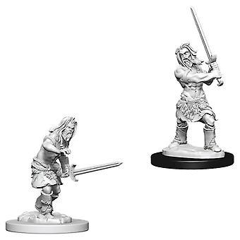 Pathfinder Battles Deep Cuts Unpainted Miniatures (W1) Male Human Barbarian