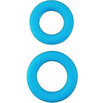 Pipedream Adjustable Blue Silicone Ring Set