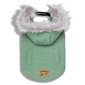 Touchdog 'Eskimo-Swag' Ente-Down Parka Hund Mantel - groß/Mint grün