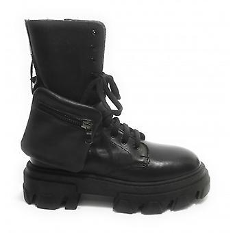 Women's Elite Amphibious Shoes With Black Leather Wedge Bottom D21el07