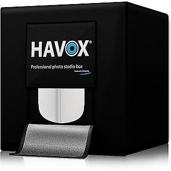 HanFei - Fotostudio HPB-40D - Mae 40x40x40cm - Dimmbare LED-Beleuchtung Tageslicht 5500k - 13.000