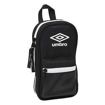 Pencil Case Backpack Umbro Black (33 Pieces)