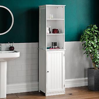 Priano 1 Door 2 Shelf Freestanding Tall Cabinet, White