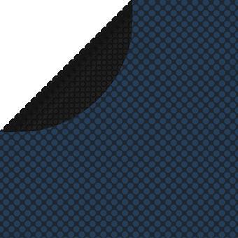 vidaXL Плавающий бассейн Солнечный брезент PE 549 см Черный и синий