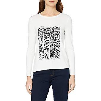 Paragraph CI 82.912.31.7808 T-Shirt, White (White Placed Print 01d7), 46 (Size Manufacturer: 40) Woman