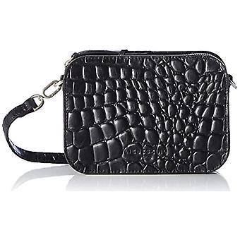 Liebeskind Berlin Luka Crossbody Kroko, Women's Folder Bag, Black, Small