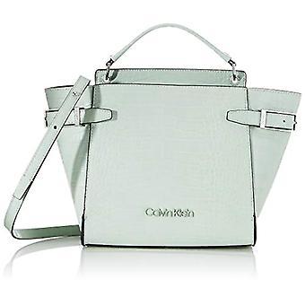 Calvin Klein Winged Top Handle Tote Sm Croc - Women's Bags, Green (Petal Green), 1x1x1 cm (W x H L)