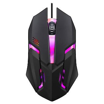 Usb Wired Gaming Mouse 7 Colors Led Backlight Ergonomics Flank Cable Optical