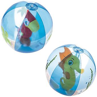 Inflatable Beach Ball with Animal Figure - Sold Randomly