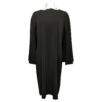Antthony Dress Cape Pullover Sheath Dress Black 716496