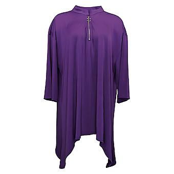 Antthony Women's Top 3/4 Sleeve Knit Popover Purple 716480