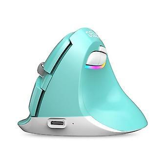 DZK Wireless Mouse Silent Vertical Computer Mice (verde)