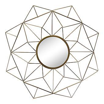 מראה עיצוב גיאומטרי חוט זהב