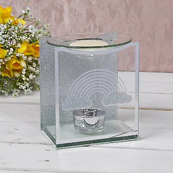 Mirror Glass Rainbow Wax/oil Warmer by Lesser & Pavey