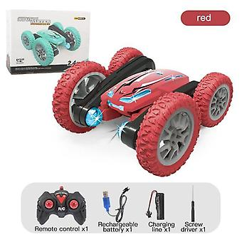 2021 New double-sided 360° rotating and tumbling stunt car twisting car 2.4g charging robot rc cars toys children gift