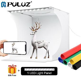 Puluz folding lightbox 20cm 30cm light box mini photo studio box  photography light studio shooting tent box kit & 6 backdrops