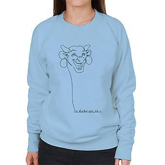 The Laughing Cow Handwritten Outline Women's Sweatshirt