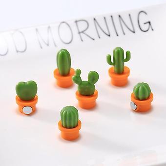 3d Cute Succulent Plant Magnet Message Board Button Cactus