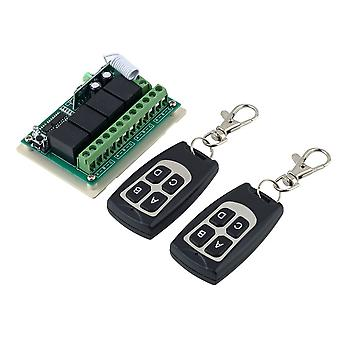 New 12v 4ch 10m Wireless Remote Control Relay Switch Transceiver + Receiver