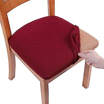 Seat Covers For Dining Room Chairs Stretch Jacquard Dining Chair Seat Covers(Red)