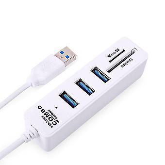 Concentrador usb 3.0 divisor de alta velocidad y lector de tarjetas SD todo en uno para PC