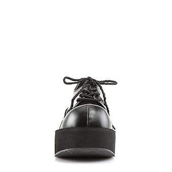 Demonia Women's Chaussures DANK-101 Blk Vegan Leather