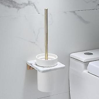 Zestaw akcesoriów łazienkowych Szczotkowana złota półka łazienkowa, wieszak na ręczniki marmur i mosiądz